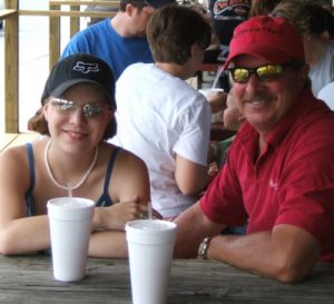 Jen Hedrick and her father, Steve.