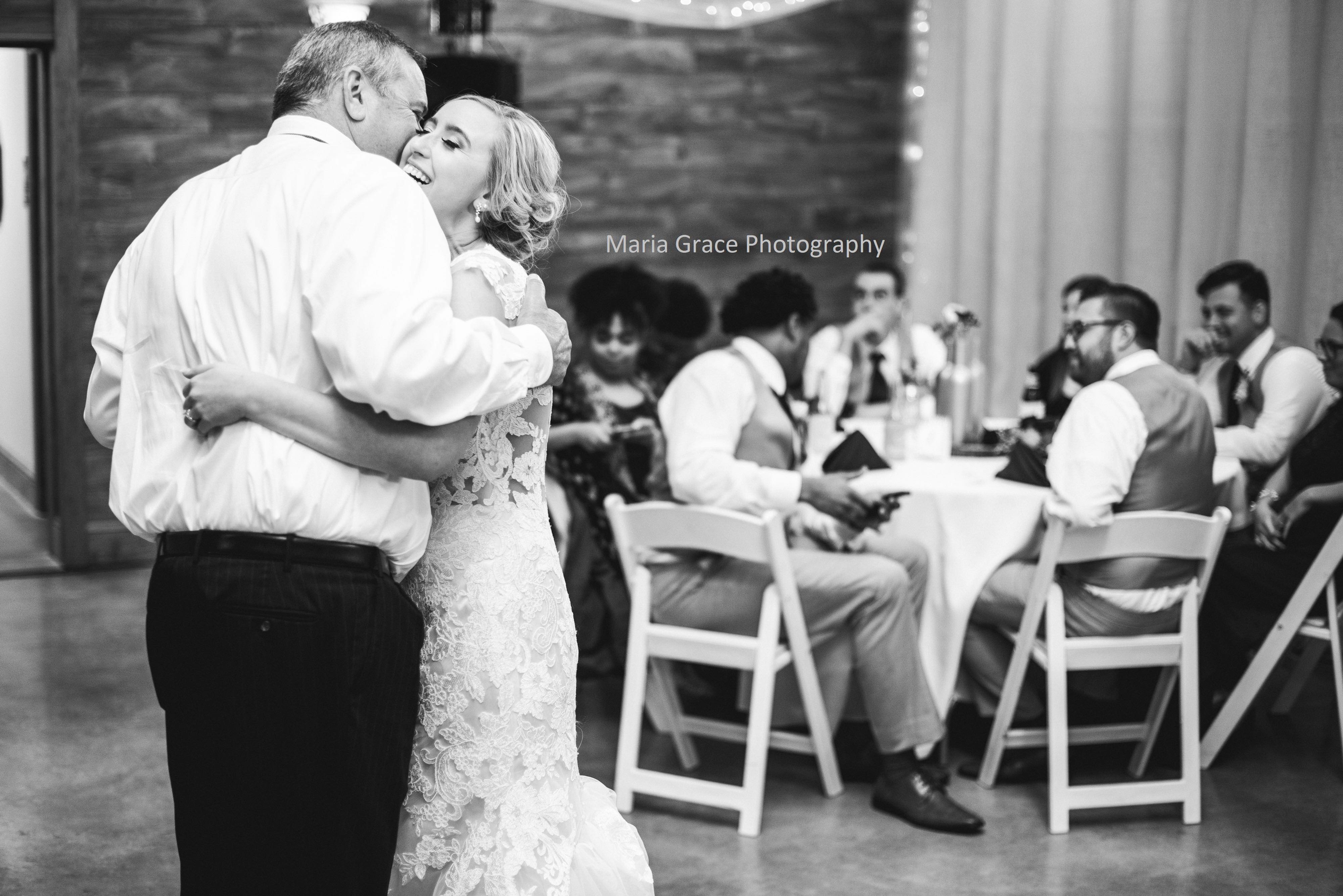 Kaleigh and her father dancing on her wedding day.