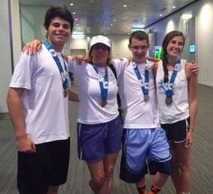 Rutger and teammates at the US Transplant Games.