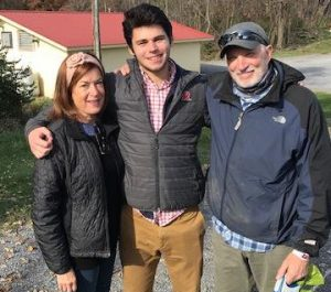 Rutger with Shirley and Jeffrey Young.