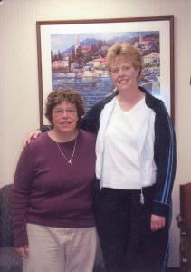 Andrew's mother, Linda, received a kidney from her sister, Ellen.