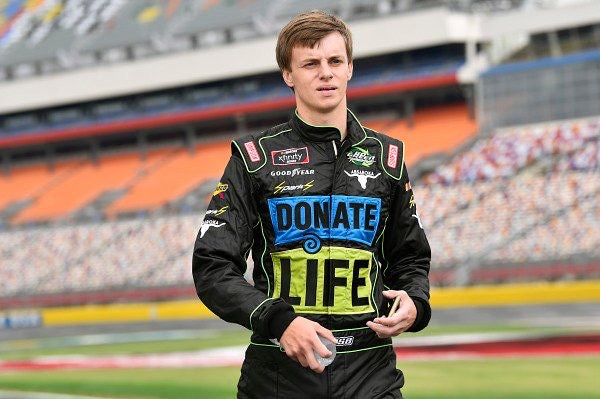 NASCAR driver and organ donation advocate Joey Gase will race in Kyle's honor at Richmond International Raceway next April.
