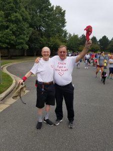 Gary Rafferty and Denis Popp at the 2019 Heart Walk