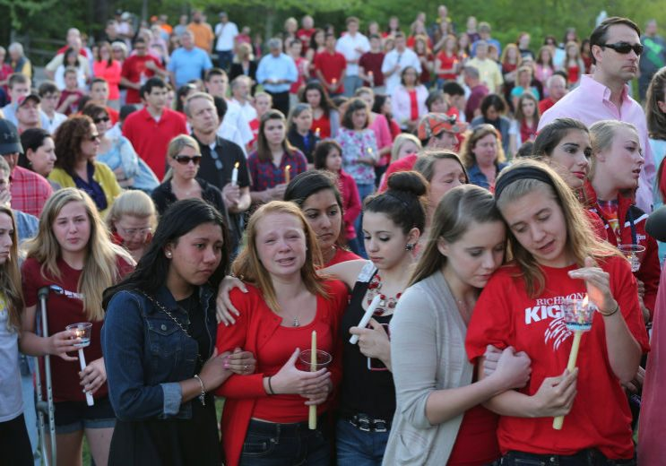 Hundreds of students gathered at a vigil for Tyler.